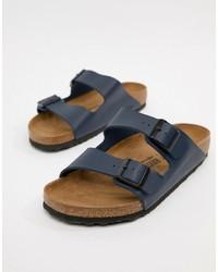 Birkenstock Arizona Birko Flor Sandals In Blue