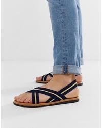 ASOS DESIGN Sandals With Elastic Tape S