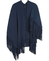 Burberry Prorsum Wool Blend Poncho Scarf