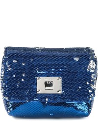 Navy Sequin Clutch
