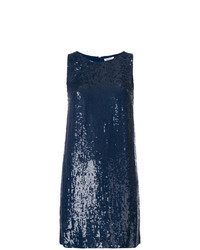 Navy Sequin Shift Dress