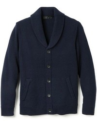 Navy Shawl Cardigan