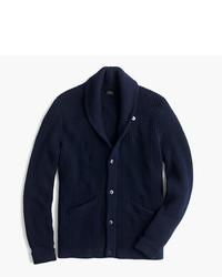 J.Crew Cotton Shawl Collar Cardigan Sweater