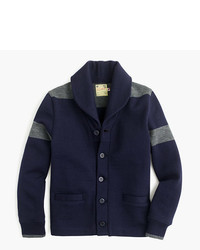 J.Crew Dehen For Shawl Collar Cardigan Sweater In Navy Wool