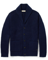 Burberry London Cashmere And Wool Blend Shawl Collar Cardigan