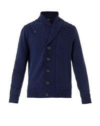Paul Smith London Chunky Knit Merino Wool Cardigan