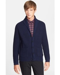 Burberry London Shawl Collar Cashmere Wool Cardigan