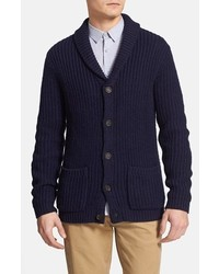 Topman Navy Shawl Collar Cardigan Dark Blue Large