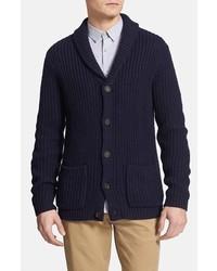 Topman Navy Shawl Collar Cardigan Dark Blue Small