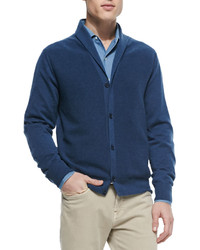 Loro Piana Reversible Shawl Collar Cardigan