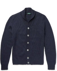 Incotex Shawl Collar Virgin Wool Cardigan