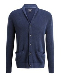 Abercrombie & Fitch Washed Stitch Cardigan Blue