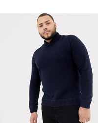 Jack & Jones Originals Plus Size Knitted Roll Neck Jumper