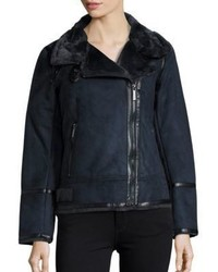 Navy shearling jacket original 10139897
