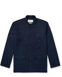 Oliver Spencer Linton Linen And Cotton Blend Shirt Jacket