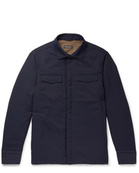 Loro Piana Tecnowool Padded Virgin Wool Blend Overshirt
