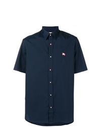 Burberry Contrast Button Short Sleeved Shirt