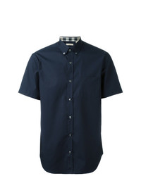 Burberry Short Sleeved Stretch Cotton Poplin Shirt