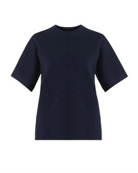 Navy Short Sleeve Sweater