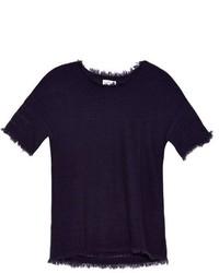 Velvet by Graham & Spencer Clara Short Sleeved Cashmere Knit Sweater