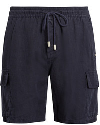Vilebrequin Bermuda Drawstring Waist Linen Shorts