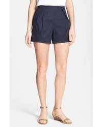 Tory Burch Farrah Pleat Front Shorts Medium Navy 12