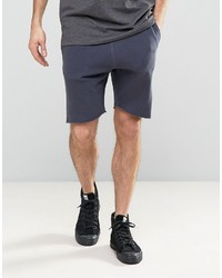Selected Homme Jersey Shorts With Drawstring Waist And Raw Hem