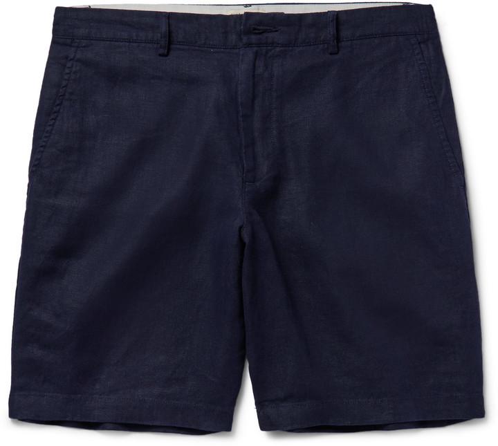 CLUB MONACO Maddox Linen Shorts - Green j2WevG
