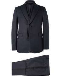 Valentino Blue Wool And Silk Blend Tuxedo