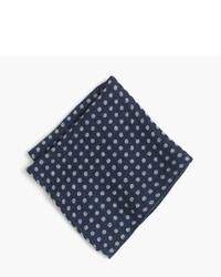 J.Crew English Wool Silk Pocket Square In Dot