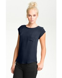 Rancher silk pocket top navy large medium 121398