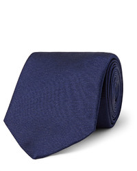 Turnbull & Asser 8cm Ribbed Silk Tie