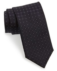 Canali Pin Dot Silk Tie