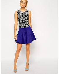 Asos Collection Skater Skirt With Paneled Seams