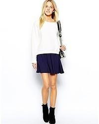 Asos Skater Skirt Navy