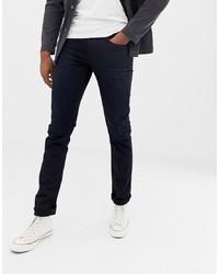 Nudie Jeans Co Tall Lean Dean Tapered Jeans Black N Blue