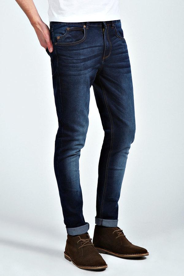 Dark navy skinny jeans