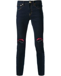 Dresscamp Embroidered Lip Skinny Jeans