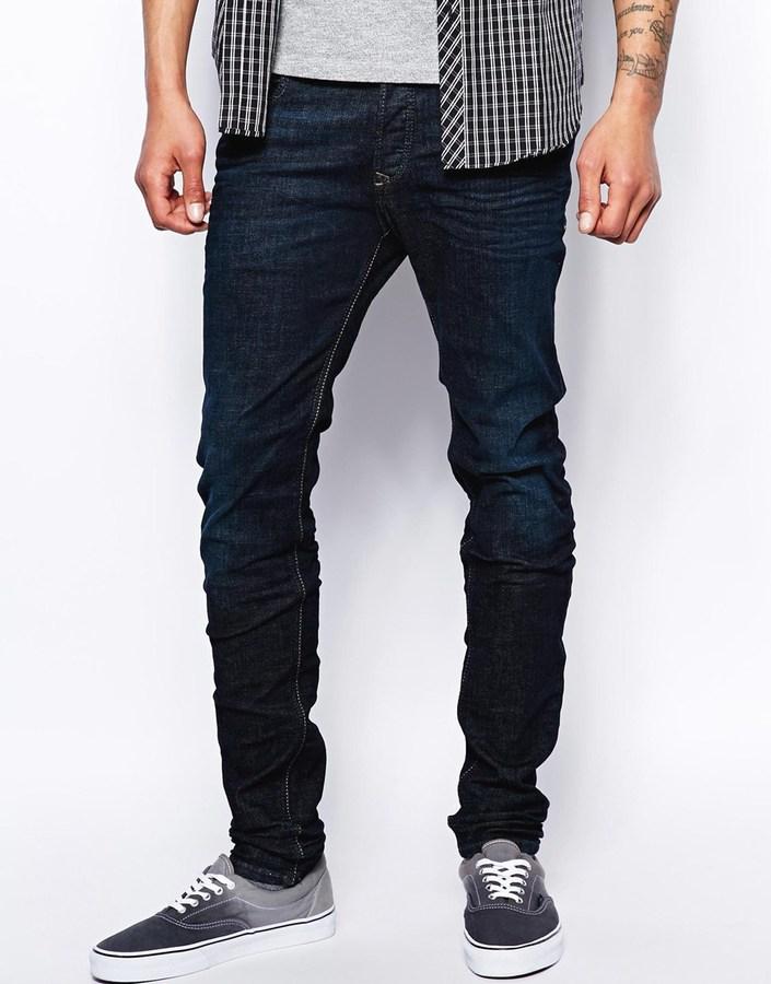 Diesel Jeans Sleenker 608d Stretch Skinny Fit Dark Indigo Where To