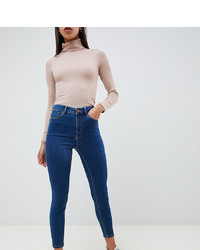 ASOS DESIGN Ridley High Waist Skinny Jeans In Flat Blue Wash