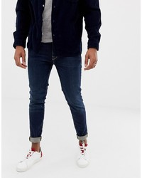 Selected Homme Skinny Fit Jeans In Mid Blue Wash