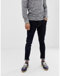 Jack & Jones Slim Fit Jeans In Dark Wash With Contrast Stitching