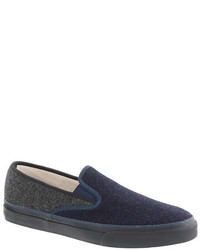 Navy Slip-on Sneakers