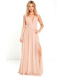 V-Neck Chiffon Dress