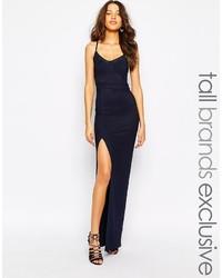 True decadence tall mesh insert maxi dress with thigh split medium 227537
