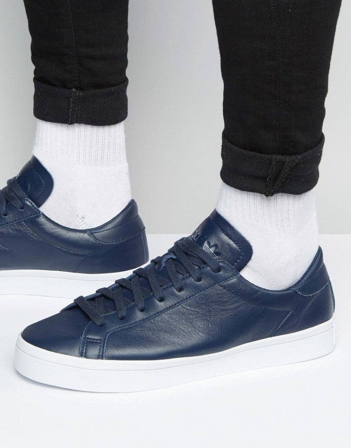 ... adidas adidas Originals Court Vantage Sneakers In Blue S76209