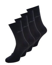 s.Oliver 4 Pack Socks Navy