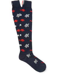 Thom Browne Patterned Cotton Socks