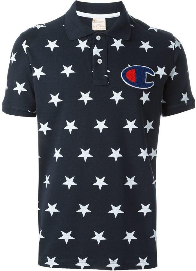 b9e667a10ccad ... Champion Star Print Polo Shirt