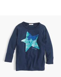 J.Crew Girls Sequin Star T Shirt